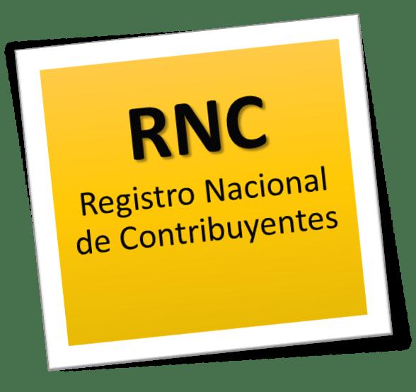 Registro Nacional de Contribuyentes (RNC).